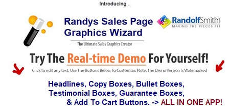 Sales Page Graphics Wizard